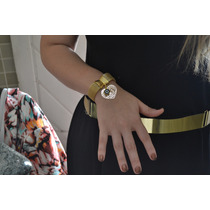 Bracelete Malha Italiana Dourado