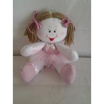 Boneca Artesanal De Pano Bailarina Decoração Quarto Bebe