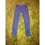 Pantalones Jeans Pitillos Azules Tiro Alto