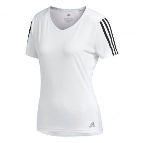 0a55bd2de66 Camiseta Feminina adidas Run 3s Climalite Branca Original - R  99