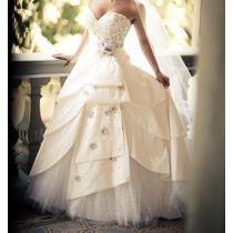 Vestido Noiva Maravilhoso Harriete Scarpi Usado Uma Vez