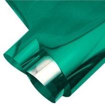 Pelicula Insulfilm Espelhado Verde 0,75x2,5m Profissional