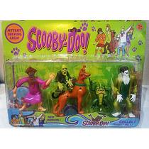 Kit 05 Bonecos Articulados Scooby Doo Monstros Feiticeiro