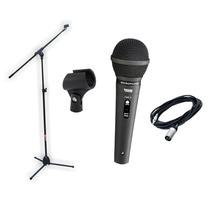 Combo Microfono Profesional+pie De Microfono+cable+pipeta