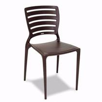 Cadeiras Sofia Tramontina Marrom Com Encosto Horizontal