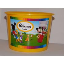 Kit 35 Baldes Turma Do Mickey / Balde De Pipoca Mickey