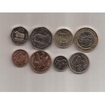 Islas Malvinas Set De 8 Monedas Año 1998-2004-2011