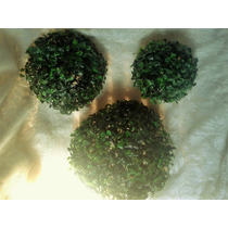 Topiario Esfera Bola Follaje Sintético Decoración Centro Mes