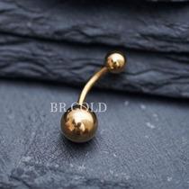Piercing Bola De Barriga, Umbigo De Aço Cirúrgico Dourado