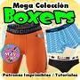 Patrones Imprimibles Para Boxer Masculino Interior Shorts Y+
