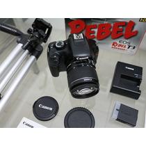 Câmera Canon T3 Com Vários Acessórios Não Tem Igual