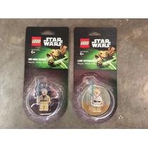 Lego, Star Wars Magnets Iman Obi Wan Y Luke Skywalker