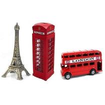 Miniaturas Ônibus Torre Eifel Cabine Telelefonica Londres