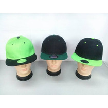 Gorra Plana Unicolor Y Bicolor Al Mayor 6 Pzas