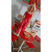 Acessorios Da Barbie Loja Pizza Hut + Boneca Barato