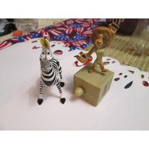Pareja De Personajes De Madagascar. Ojo Coleccionistas