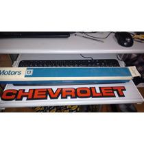 Emblema Chevrolet Vermelho D20 Bonanza Veraneio Original Gm