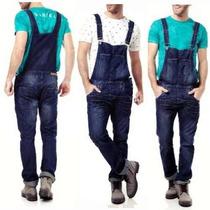 Macacão Jardineira Jeans Masculino Vintage Promoção