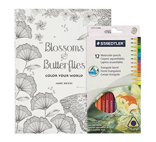 Kit De Libros Para Colorear Para Adultos - Flores Y Marip ...