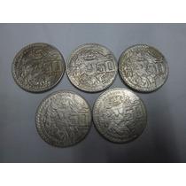 Lote De 5 Monedas De 50 Pesos Templo Mayor, Coyolxauhqui
