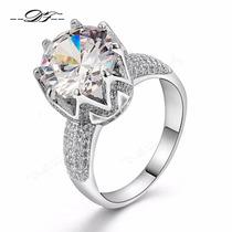 Anillo Mujer Plata S925 Swarovski Y Zirconias Diamante