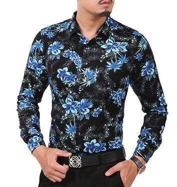 dd0b9922acb25 Camisa Floral Masculina - Social Casual Manga Longa - R  299,90 em Mercado  Livre