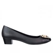 Sapato Feminino Jorge Bischoff Salto Baixo Couro Natural