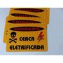 Placa De Aviso Cerca Elétrica - 22cm X 16cm Kit 6 Unid