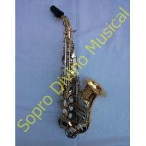 Sax Soprano Curvo Corpo Laque Chaves Niquel Hoyden Hsc 25ln