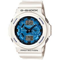Relogio Casio G-shock Ga 150 Mf 7adr Branco Azul Serie Ltda