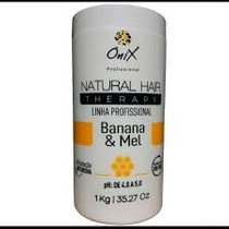 Onix Liss Natural Hair Therapy Banana/mel Máscara Hidratante