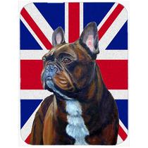 Bulldog Francés Con La Bandera De La Unión Jack Británica