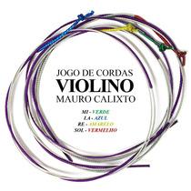 Jogo Cordas Mauro Calixto Para Violino Encordoamento 4/4
