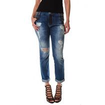 Calça Jeans Multi Ponto Denim Boyfriend