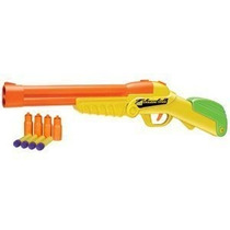 Juguete Double Shot Rifle Doble Barril Con 4 Dardos Y 4 Con