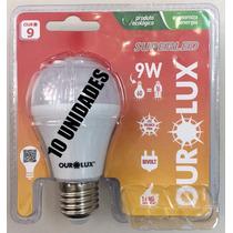Kit 10 Lampada Super Led 9w E27 Luz Branca Fria Ourolux