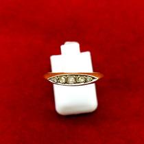 Delicado Medio Sinfin De Oro 18k C/diamantes Onix Joyas