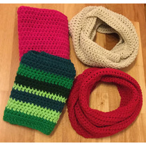 Cuello , Bufanda Circular Infinita Tejida A Crochet