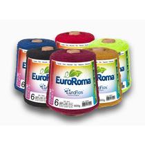 Kit 3 Unidades Barbantes Euroroma Colorido Fio 4, 6 E 8 600g