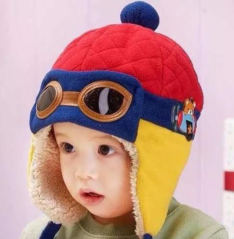 Touca Gorro Aviador Piloto Infantil Criança Vermelha Fg - R  36 08aa7861224
