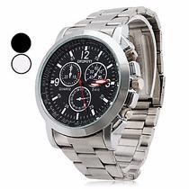 Relógio Masculino Prata Importado Promoção Frete Grátis