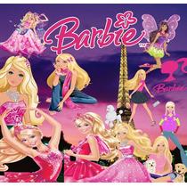 5 Kit Barbie Scrapbook Png, Papel Digital, O Mais Completo