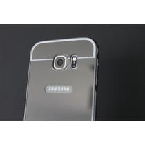 Samsung Galaxy S6 Bumper De Aluminio Acabado Espejo - Gris
