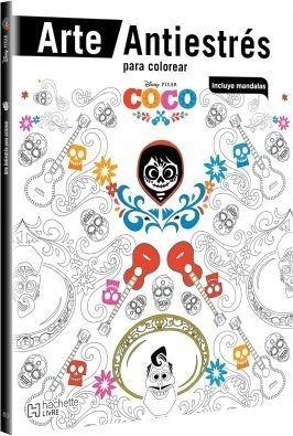 Libro Fisico Coco Arte Antiestres Para Colorear Con Mandalas