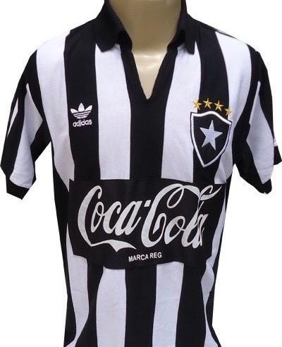 2d7b01e24ac45 Camisa Retrô Botafogo 1988 Coca Preta - Pronta Entrega ! - R  88