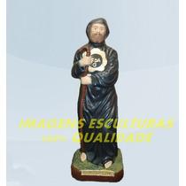 Escultura São Francisco De Paula Linda Imagem 30cm Promoção