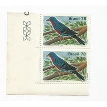 1210 - Selo C1037 - Fauna Brasileira C/2