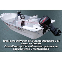 Lancha Ideal Pescadores Cero Hs Con Motor Consola Central