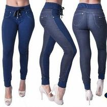 Calça Jeans Feminina Com Elástico Na Cintura Ri19 57728