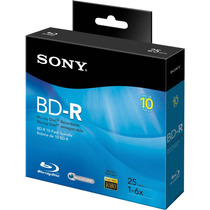 Sony Bluray Disco Virgen Grabable 25gb Bd-r Caja Con 10